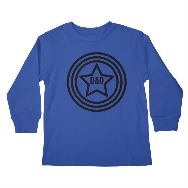 D&D - Dawn & Drew Star logo Kids Longsleeve T-Shirt by Drew's Barn Burner Shop