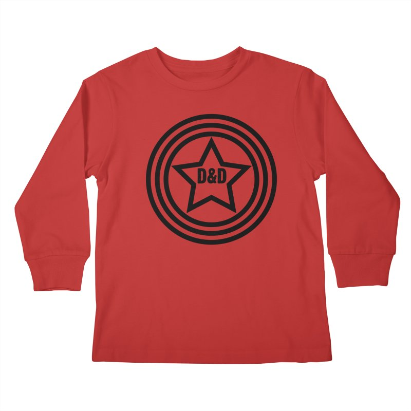 D&D - Dawn & Drew Star logo Kids Longsleeve T-Shirt by Drew's Barn Burner Shop