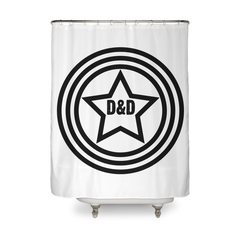 D&D - Dawn & Drew Star logo Home Shower Curtain by Drew's Barn Burner Shop