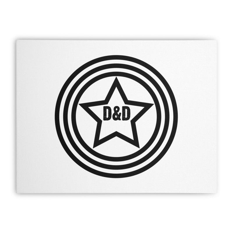 D&D - Dawn & Drew Star logo Home Stretched Canvas by Drew's Barn Burner Shop