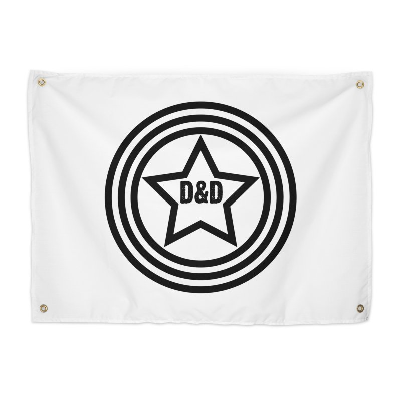 D&D - Dawn & Drew Star logo Home Tapestry by Drew's Barn Burner Shop