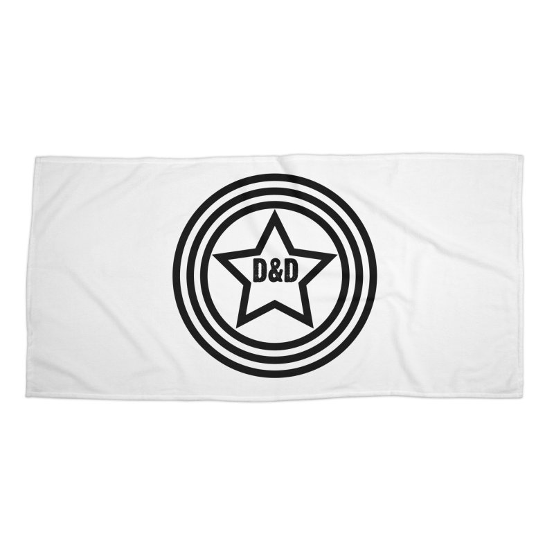 D&D - Dawn & Drew Star logo Accessories Beach Towel by Drew's Barn Burner Shop