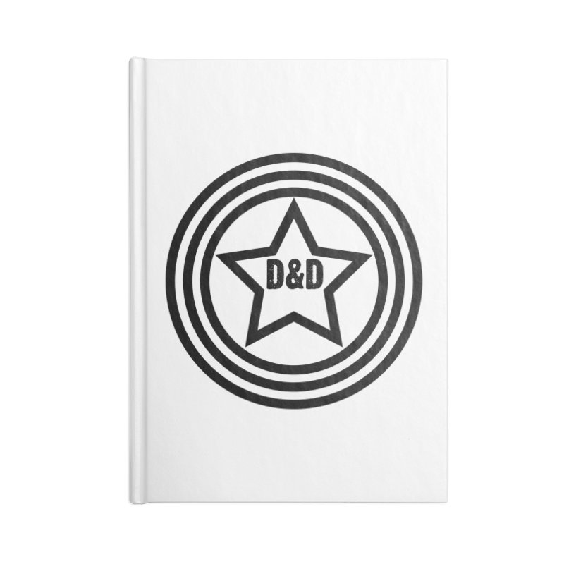 D&D - Dawn & Drew Star logo Accessories Lined Journal Notebook by Drew's Barn Burner Shop