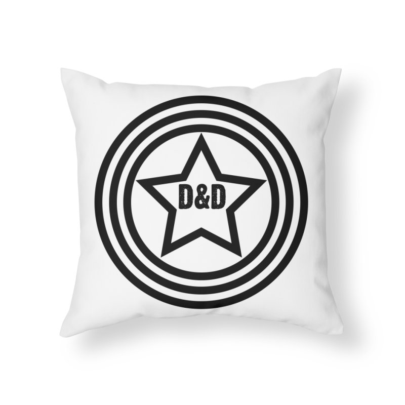 D&D - Dawn & Drew Star logo Home Throw Pillow by Drew's Barn Burner Shop