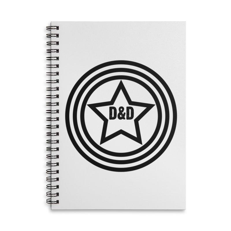 D&D - Dawn & Drew Star logo Accessories Notebook by Drew's Barn Burner Shop