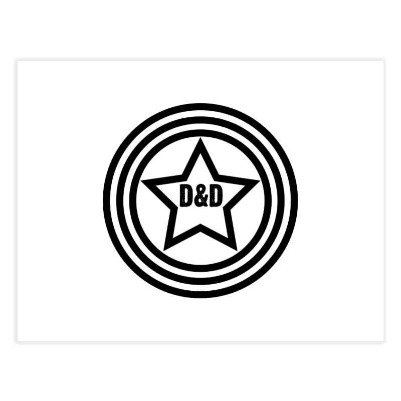 D&D - Dawn & Drew Star logo Home Fine Art Print by Drew's Barn Burner Shop