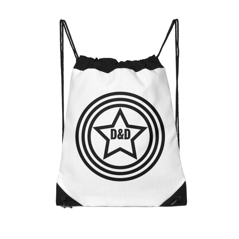 D&D - Dawn & Drew Star logo Accessories Drawstring Bag Bag by Drew's Barn Burner Shop