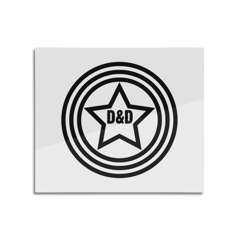 D&D - Dawn & Drew Star logo Home Mounted Aluminum Print by Drew's Barn Burner Shop