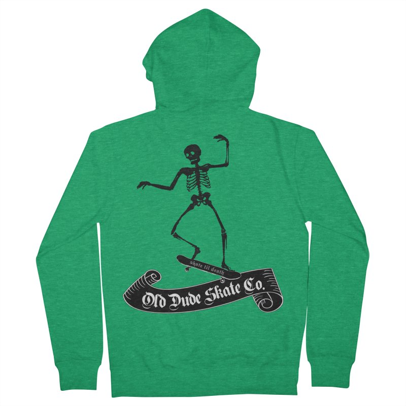 ODS Grinding Skelton Men's Zip-Up Hoody by Drew's Barn Burner Shop