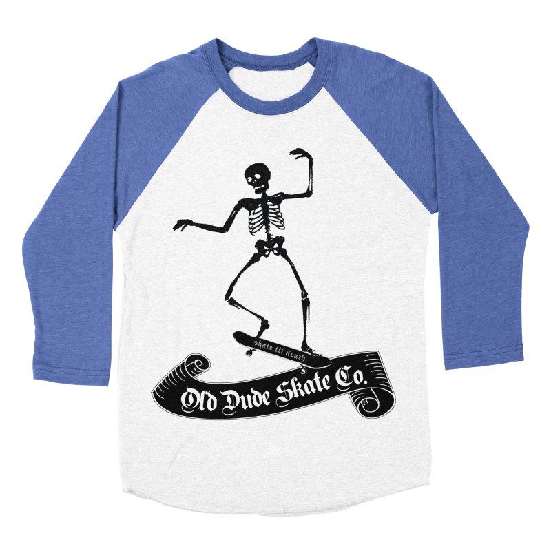 ODS Grinding Skelton Women's Baseball Triblend T-Shirt by Drew's Barn Burner Shop