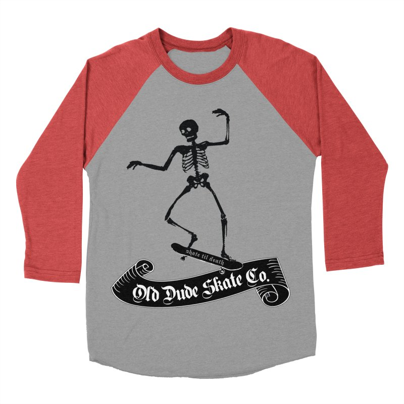 ODS Grinding Skelton Women's Baseball Triblend Longsleeve T-Shirt by Drew's Barn Burner Shop