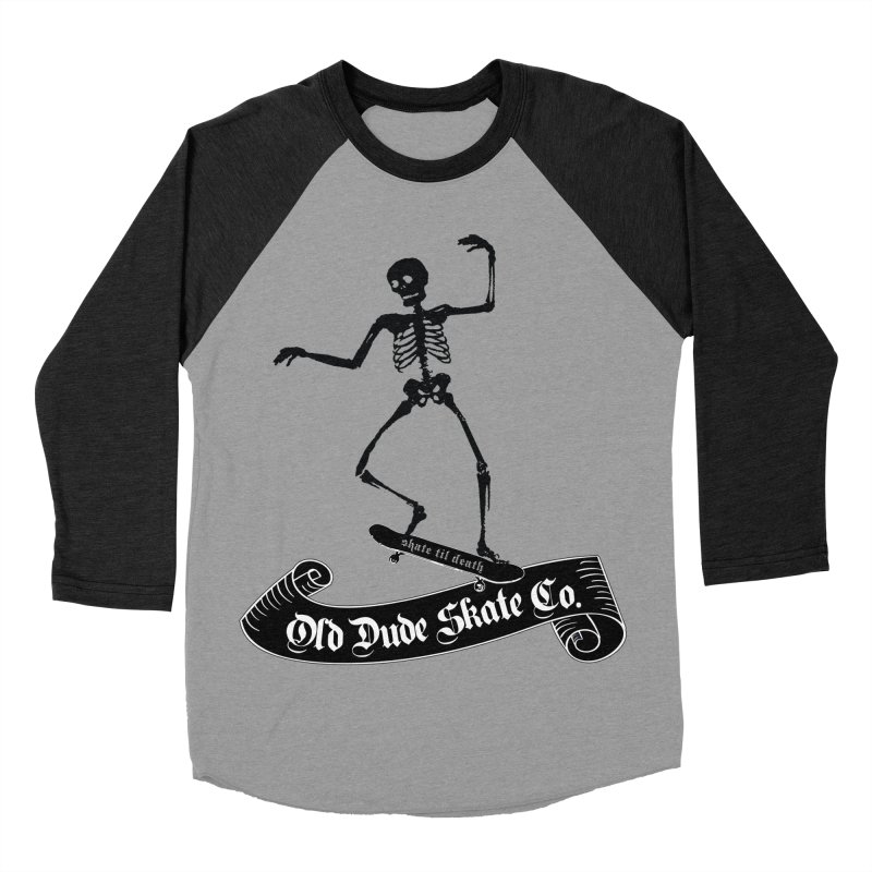 ODS Grinding Skelton Women's Baseball Triblend Longsleeve T-Shirt by Drew's Barn Burner Shop