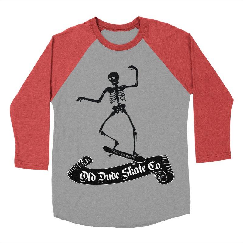 ODS Grinding Skelton Men's Baseball Triblend T-Shirt by Drew's Barn Burner Shop