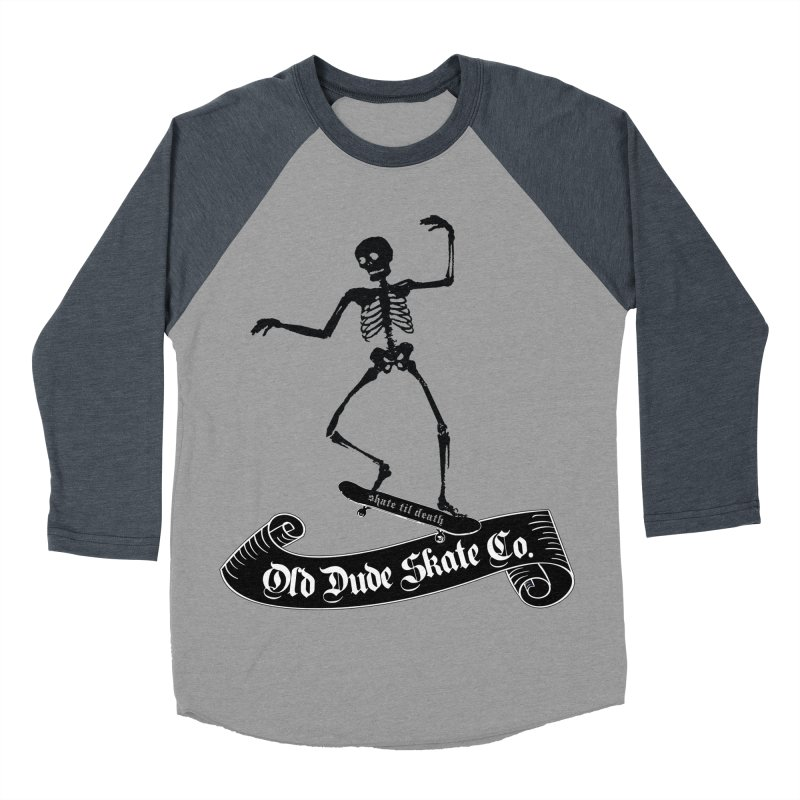 ODS Grinding Skelton Men's Baseball Triblend T-Shirt by Drew's Barn Burner Shop