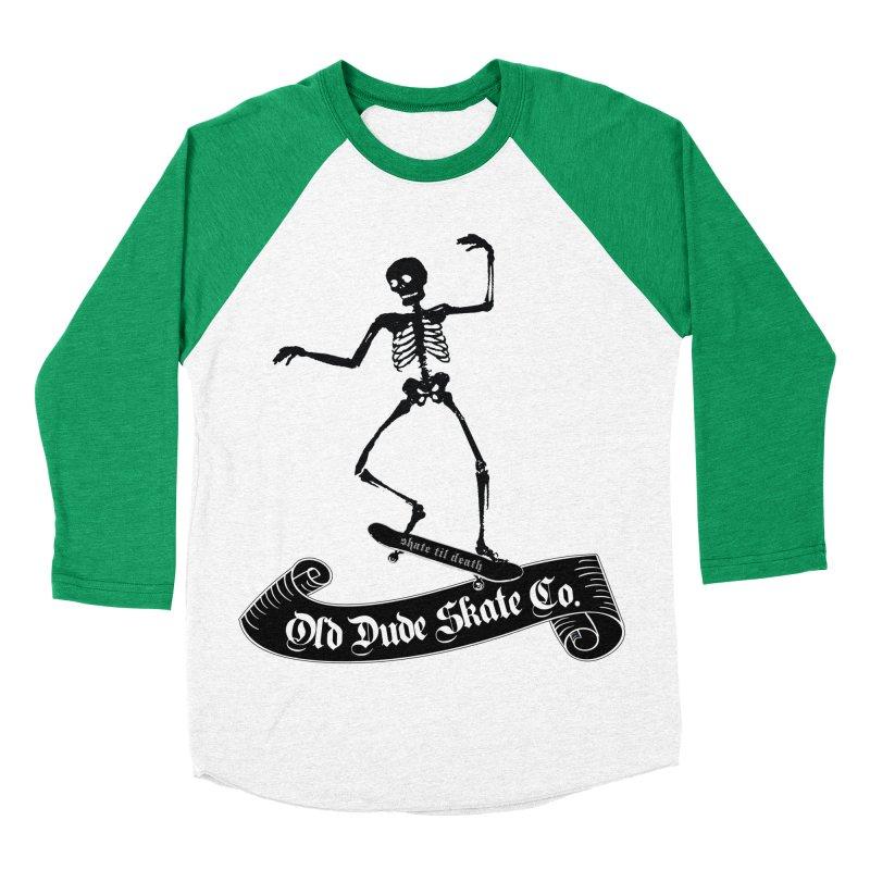 ODS Grinding Skelton Men's Baseball Triblend Longsleeve T-Shirt by Drew's Barn Burner Shop