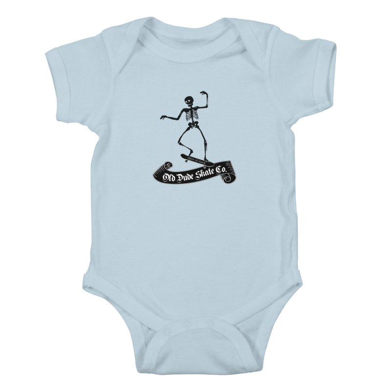 ODS Grinding Skelton Kids Baby Bodysuit by Drew's Barn Burner Shop