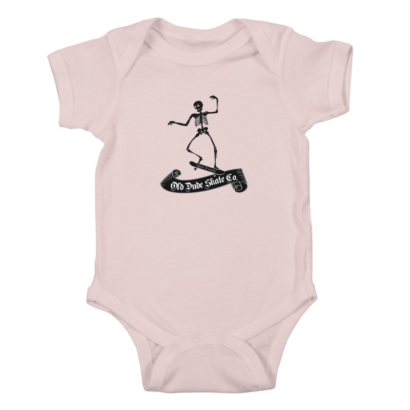 ODS Grinding Skelton Kids Baby Bodysuit by Drew's Barn Burner Shop