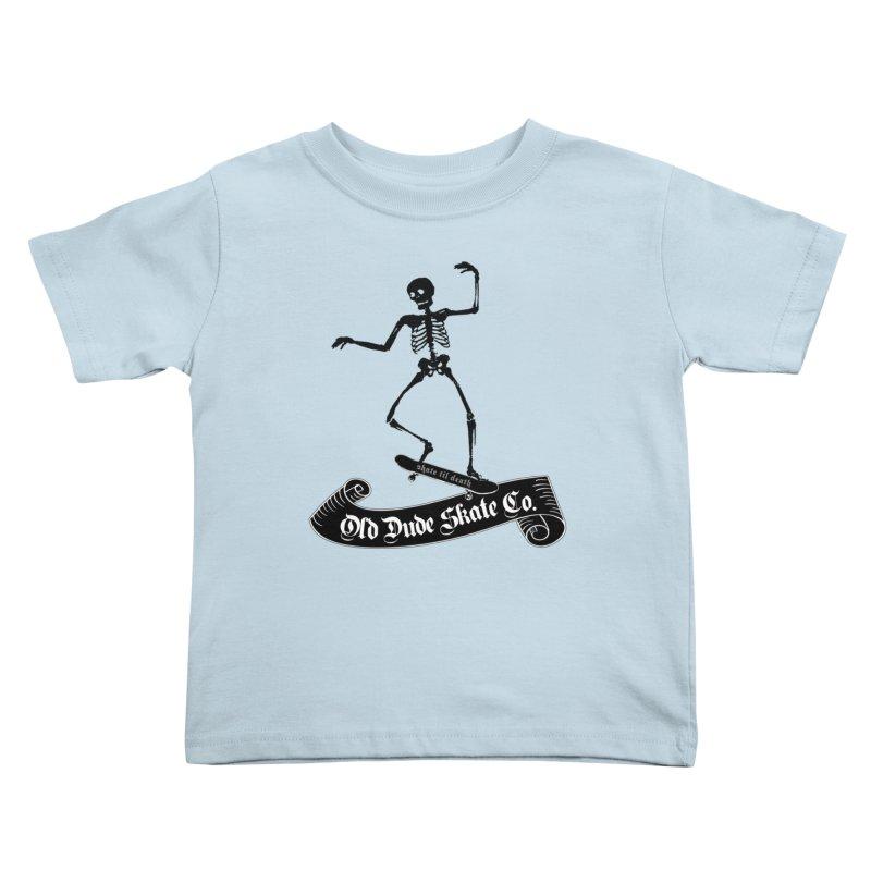 ODS Grinding Skelton Kids Toddler T-Shirt by Drew's Barn Burner Shop