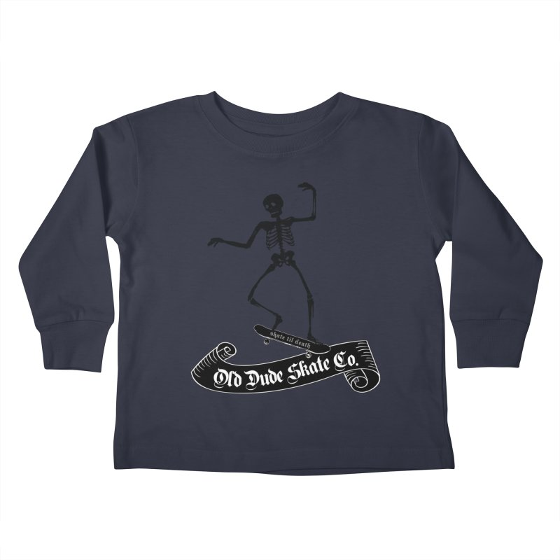 ODS Grinding Skelton Kids Toddler Longsleeve T-Shirt by Drew's Barn Burner Shop