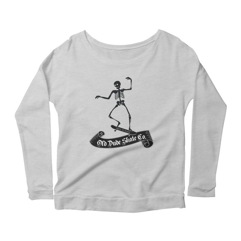 ODS Grinding Skelton Women's Scoop Neck Longsleeve T-Shirt by Drew's Barn Burner Shop