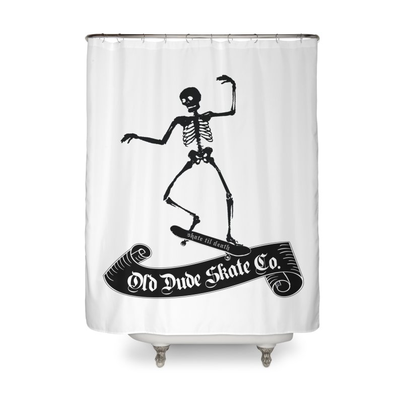 ODS Grinding Skelton Home Shower Curtain by Drew's Barn Burner Shop