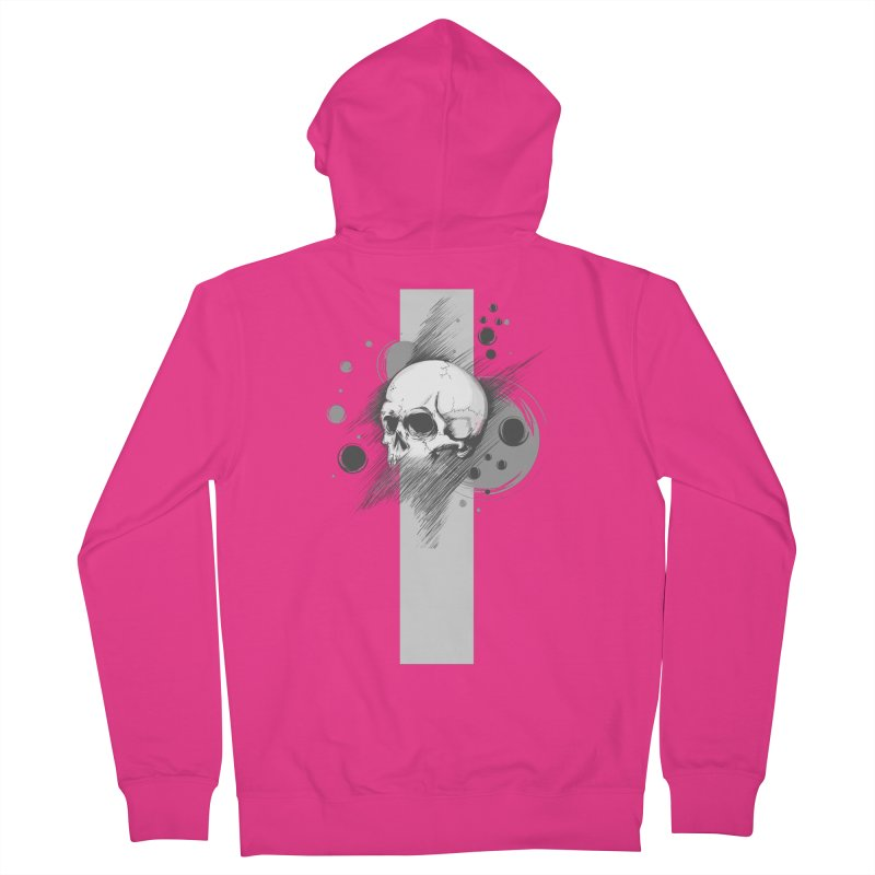 Skull of Stress Men's Zip-Up Hoody by barondzines