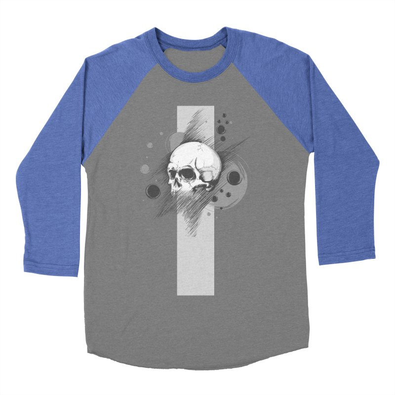 Skull of Stress Men's Baseball Triblend T-Shirt by barondzines