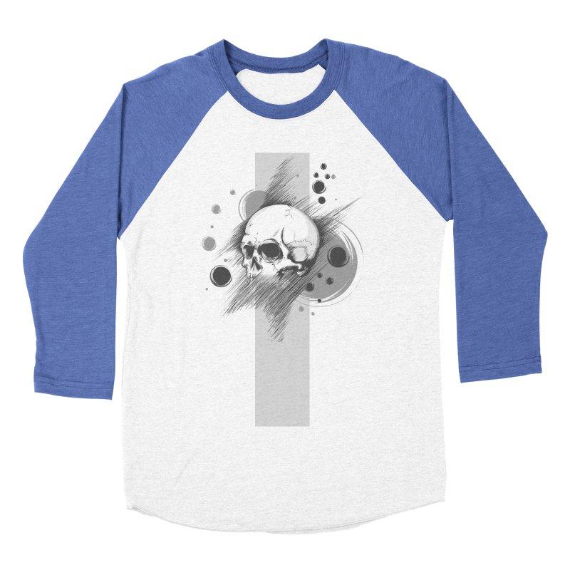 Skull of Stress Men's Baseball Triblend T-Shirt by barondzines