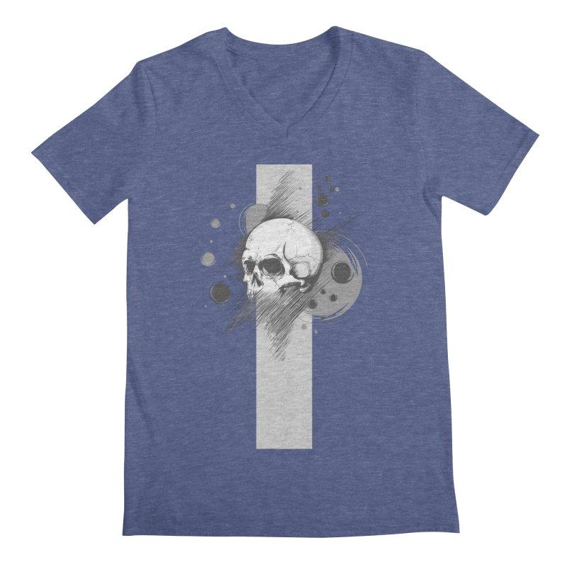 Skull of Stress Men's V-Neck by barondzines