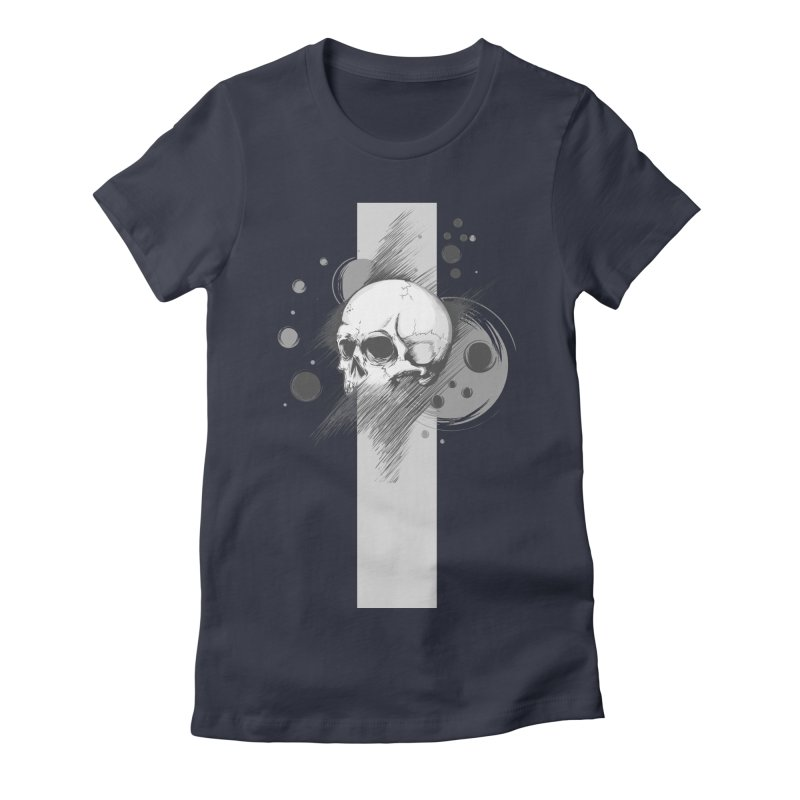 Skull of Stress Women's Fitted T-Shirt by barondzines