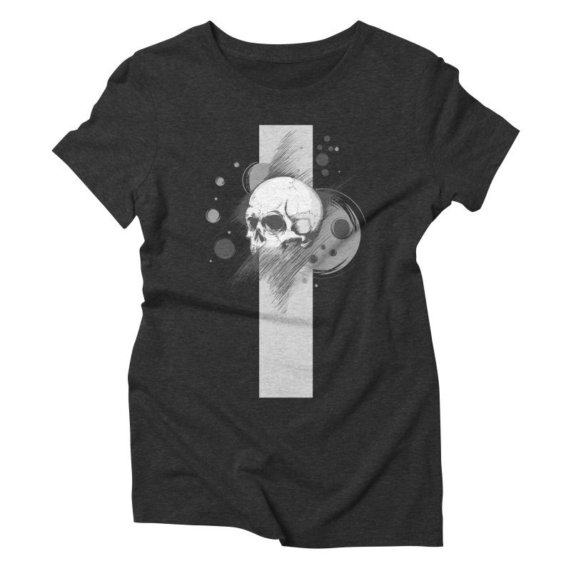 Skull of Stress Women's Triblend T-shirt by barondzines