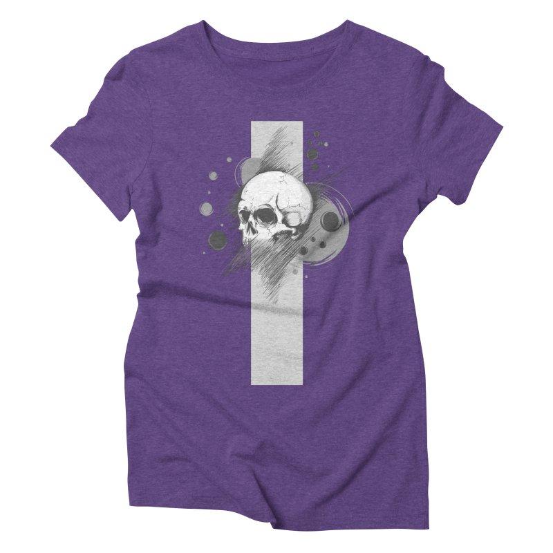 Skull of Stress Women's Triblend T-Shirt by barondzines