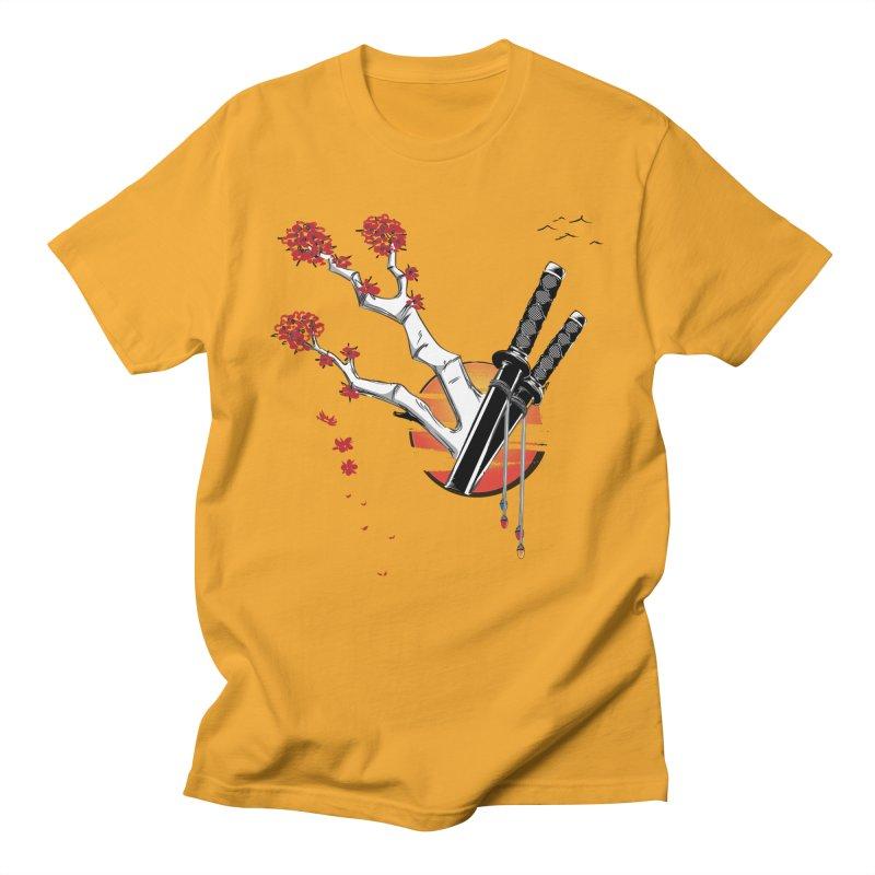 Samurai Sword Sunset Men's T-shirt by barondzines