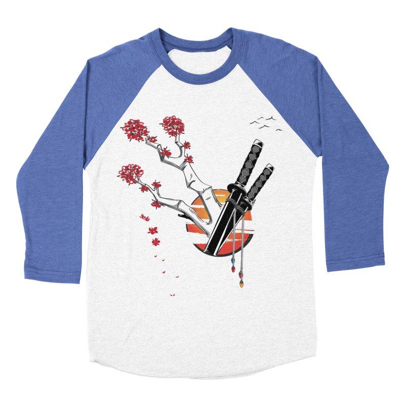 Samurai Sword Sunset Men's Baseball Triblend T-Shirt by barondzines