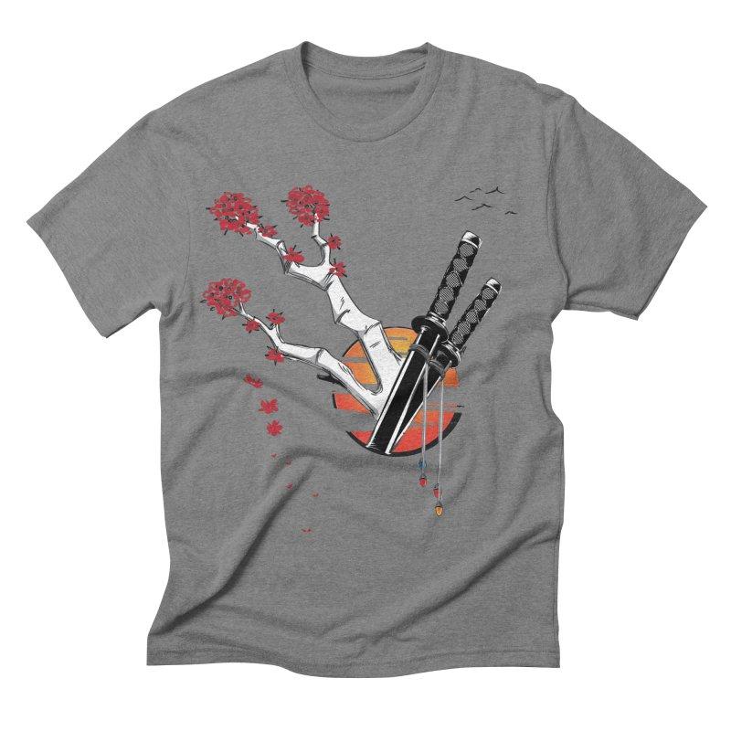 Samurai Sword Sunset Men's Triblend T-shirt by barondzines