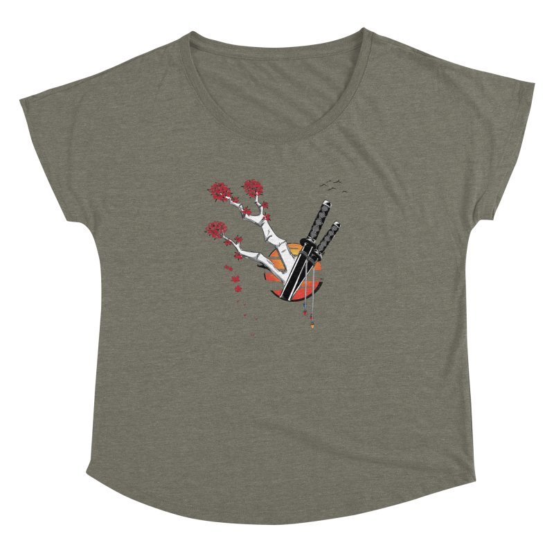 Samurai Sword Sunset Women's Dolman by barondzines