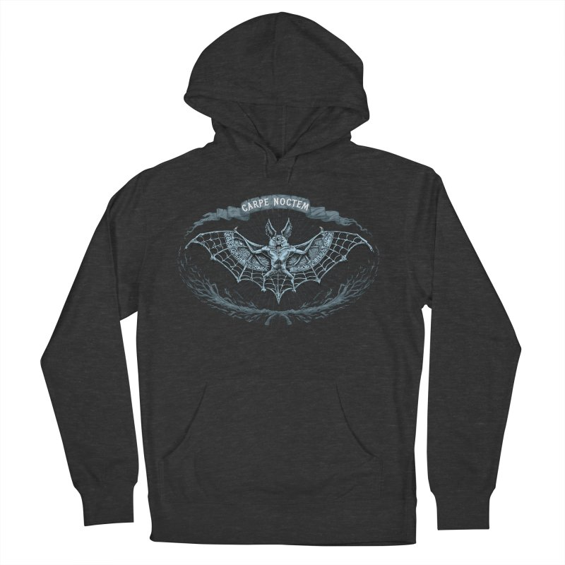 CARPIE NOCTEM (SEIZE THE NIGHT) Men's French Terry Pullover Hoody by Baron Wolf Creative