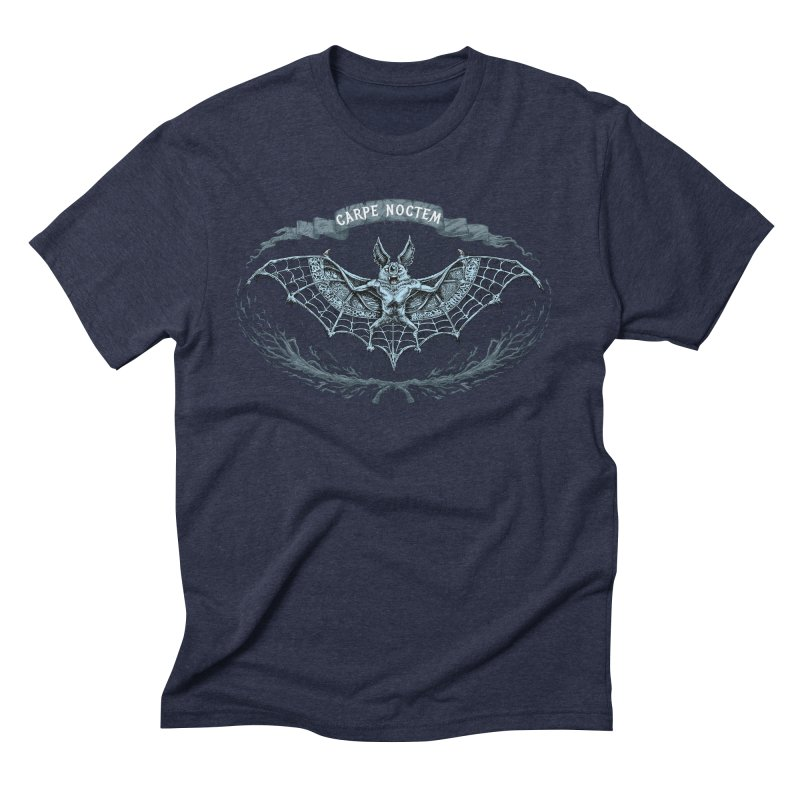 CARPIE NOCTEM (SEIZE THE NIGHT) Men's Triblend T-Shirt by Baron Wolf Creative
