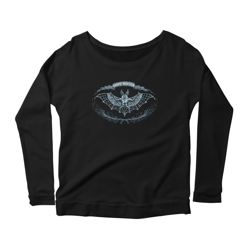 CARPIE NOCTEM (SEIZE THE NIGHT) Women's Scoop Neck Longsleeve T-Shirt by Baron Wolf Creative