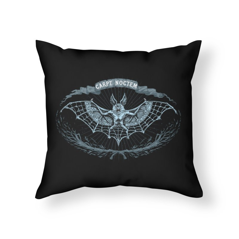 CARPIE NOCTEM (SEIZE THE NIGHT) Home Throw Pillow by Baron Wolf Creative