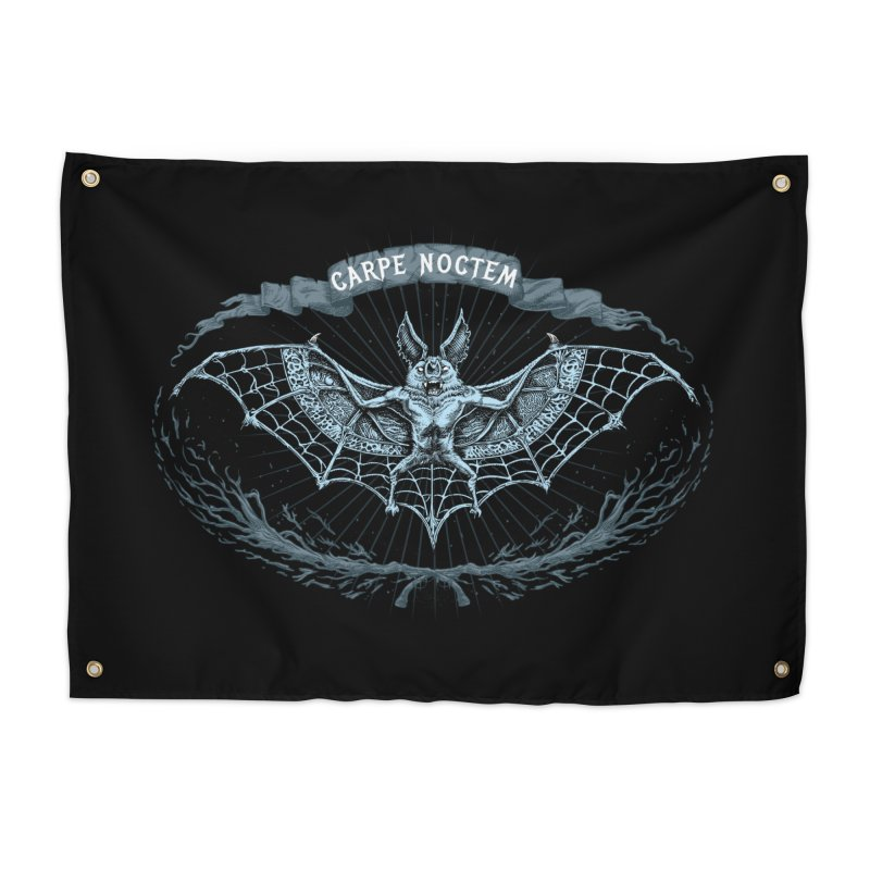 CARPIE NOCTEM (SEIZE THE NIGHT) Home Tapestry by Baron Wolf Creative