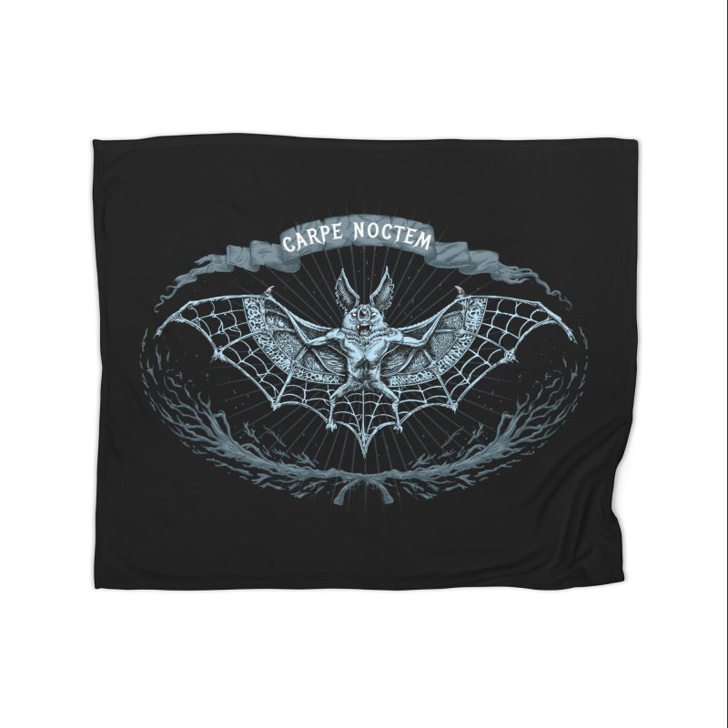 CARPIE NOCTEM (SEIZE THE NIGHT) Home Blanket by Baron Wolf Creative