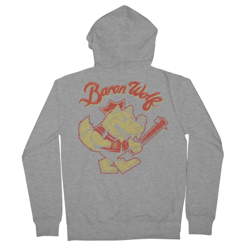 BARKLEY THE WOLF! Men's Zip-Up Hoody by Baron Wolf Creative