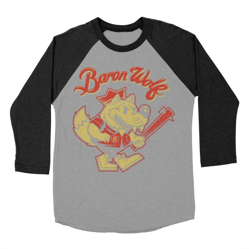BARKLEY THE WOLF! Women's Baseball Triblend T-Shirt by Baron Wolf Creative