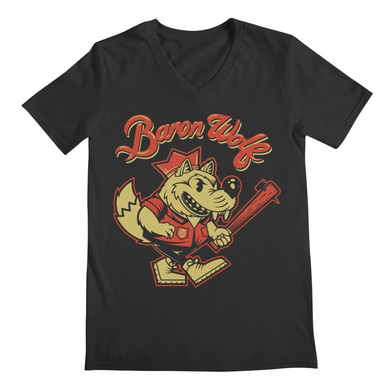 BARKLEY THE WOLF! Men's V-Neck by Baron Wolf Creative