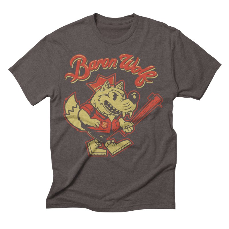 BARKLEY THE WOLF! Men's Triblend T-shirt by Baron Wolf Creative