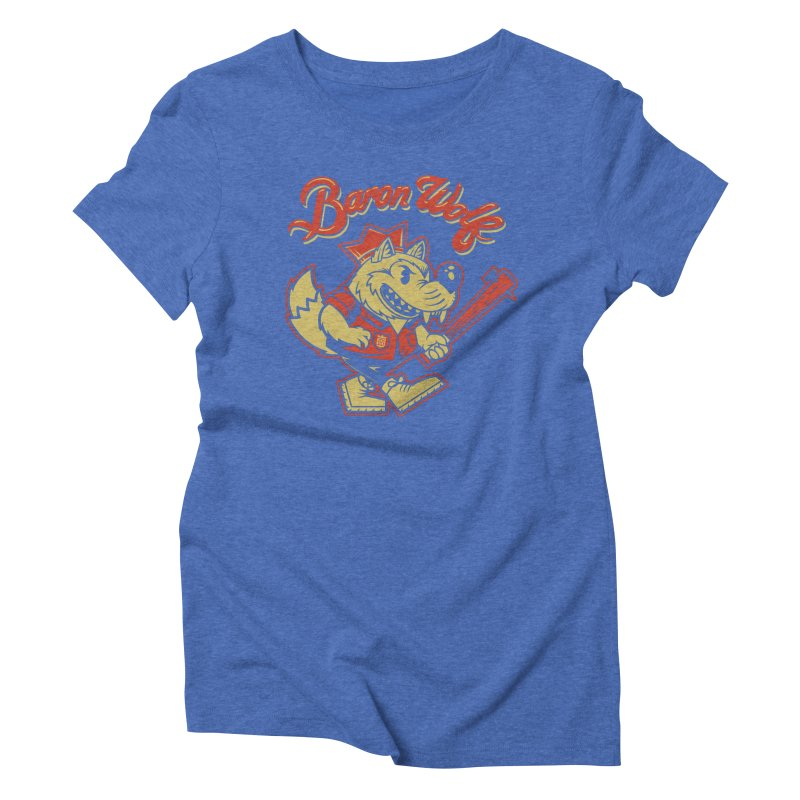 BARKLEY THE WOLF! Women's Triblend T-Shirt by Baron Wolf Creative