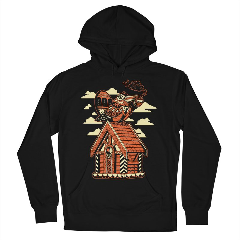 THE CRIMSON BIRDHOUSE Men's French Terry Pullover Hoody by Baron Wolf Creative