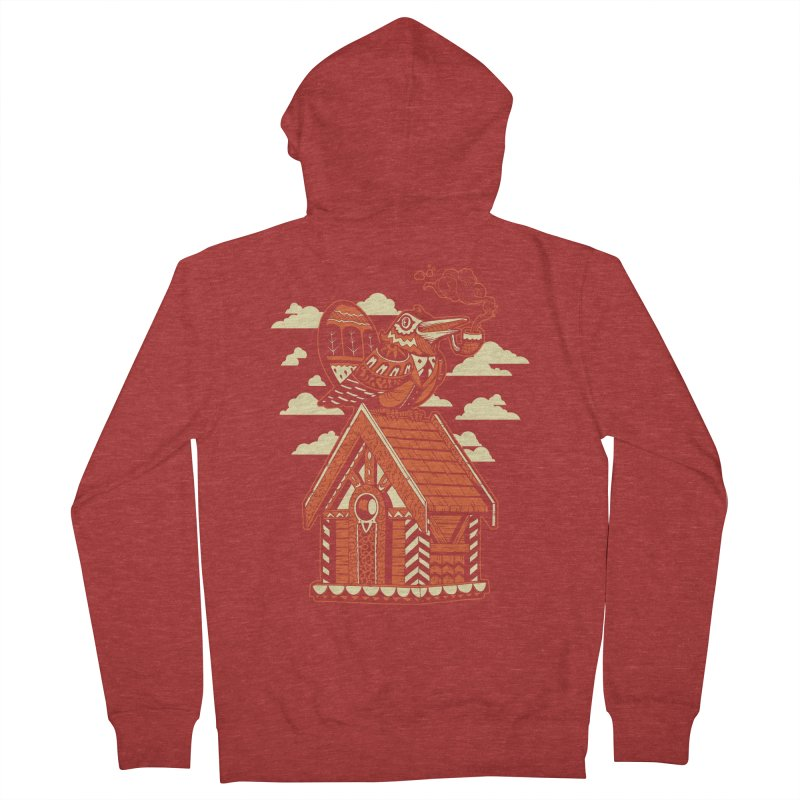 THE CRIMSON BIRDHOUSE Women's French Terry Zip-Up Hoody by Baron Wolf Creative