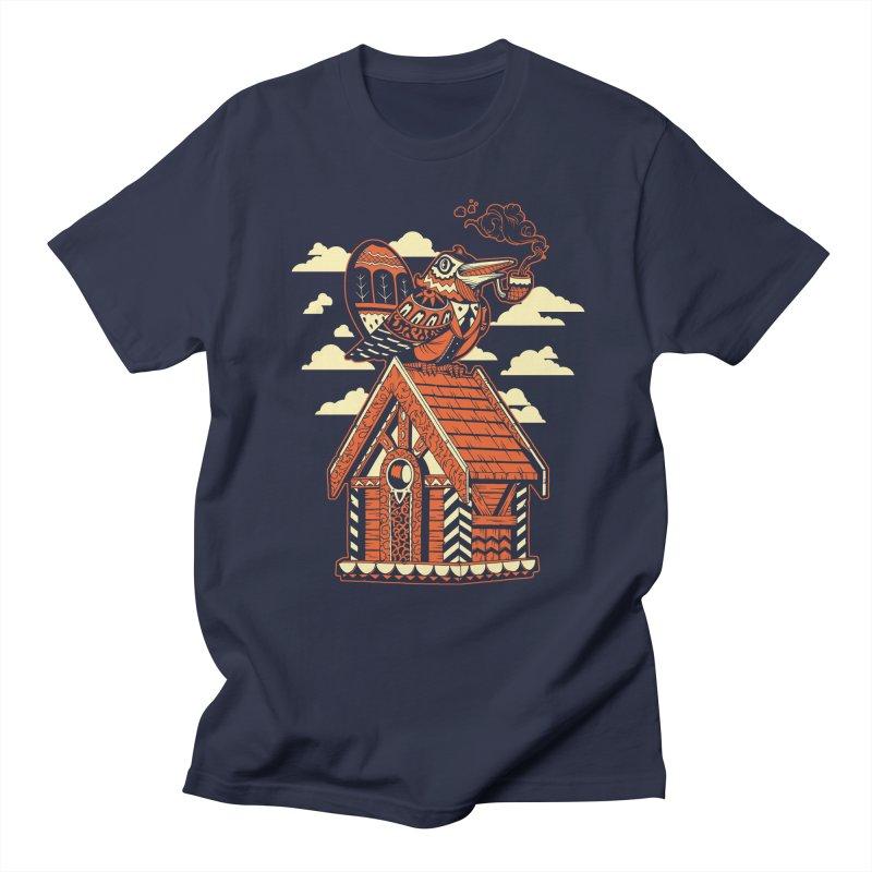 THE CRIMSON BIRDHOUSE Men's T-Shirt by Baron Wolf Creative